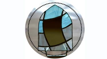 Miroir et vitrail par eclats dverre